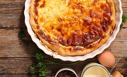 Herzhafter Käsekuchen mit Safran